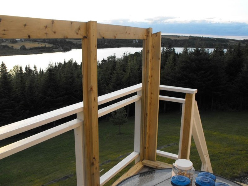 Sunroom deck construction 6