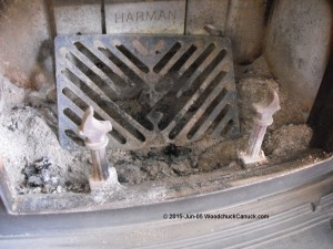 Harman Oakwood fireplace - wood box grate falls apart.