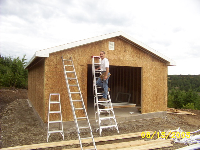 Carpentry and building a workshop.