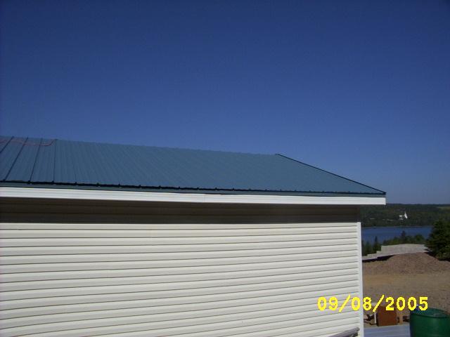 Slate blue VicWest metal roof
