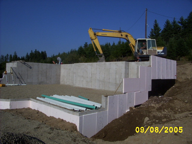 Home build - basement work