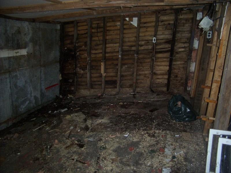 Rotting interior.