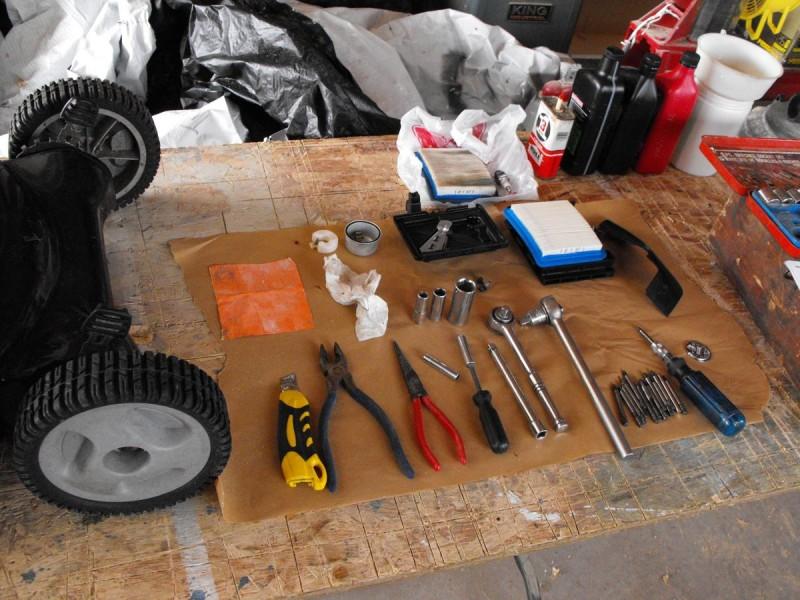 Tools at the ready.