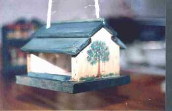 Bird feeder woodworking project.