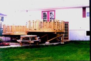 DIY round deck construction.