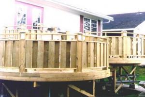 DIY round deck.