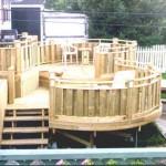 DIY a round deck