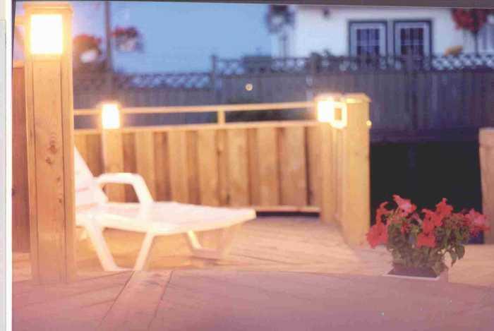 DIY deck lighting