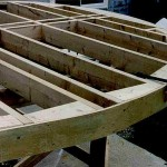 Woodworking a round deck