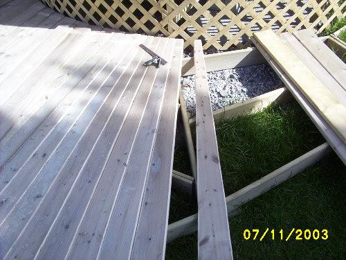 Building a deck walkway