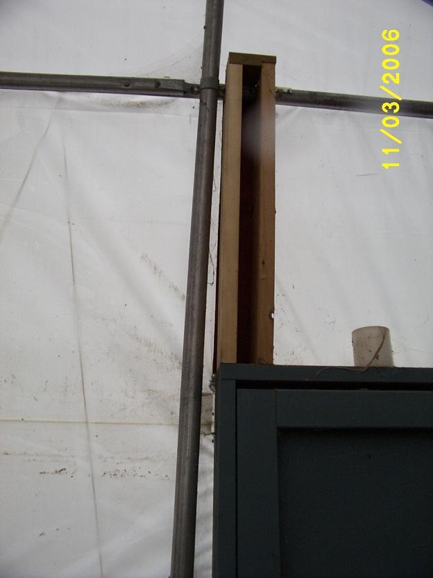 Sheep barn renovation.