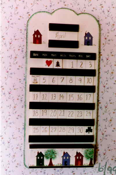 Craft project perpetual calendar