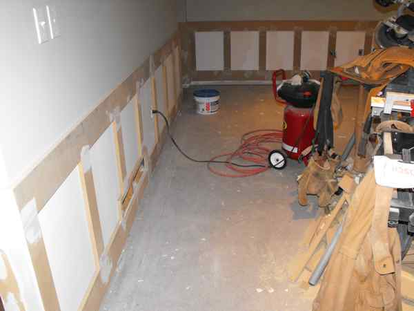 Wainscoting the basment
