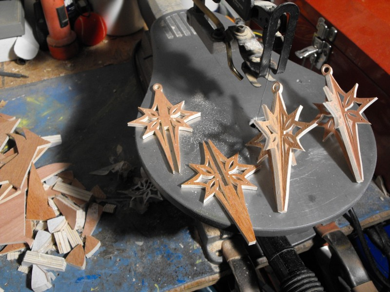 10. Christmas ornaments on the scroll saw.