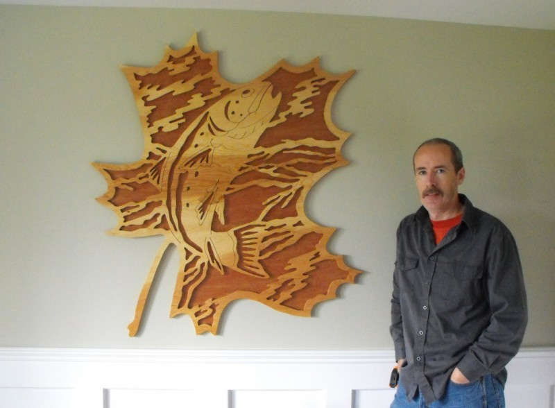Jim Barry - Forest Leaf Salmon plywood project.