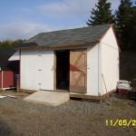 Siding a garage