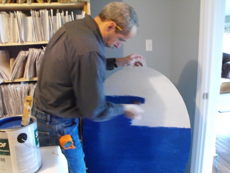 painting the plywood backer board