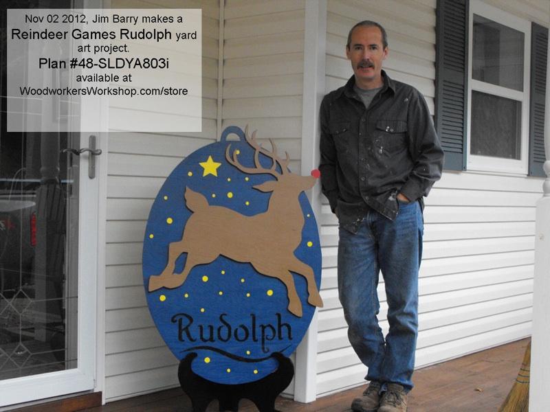 Reindeer Games Rudolph yard art