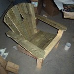 Scrap wood Adirondack chair