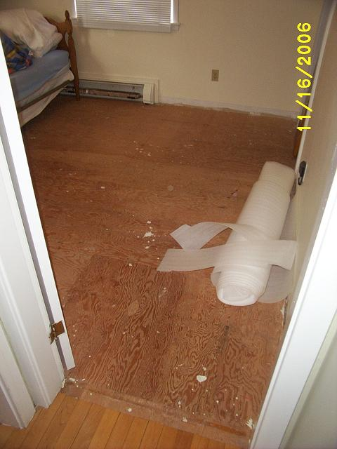 2. Laminate floor installation.