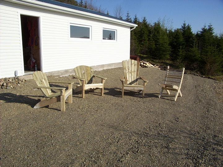 Scrap wood Adirondack chairs