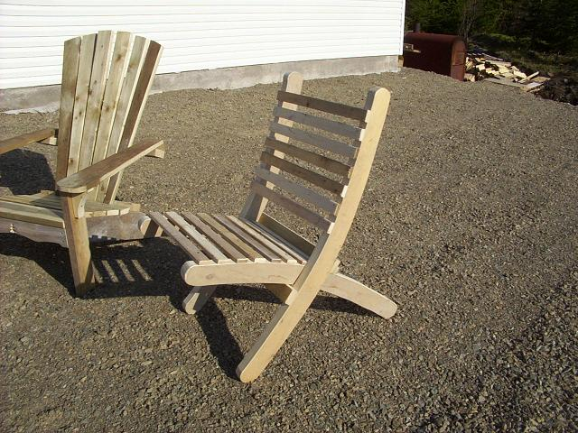 Scrap wood 2 part chair