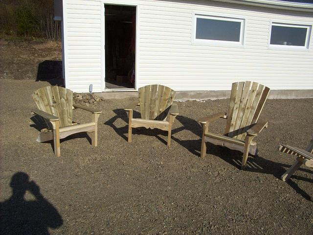 Scrap wood Adirondack chairs