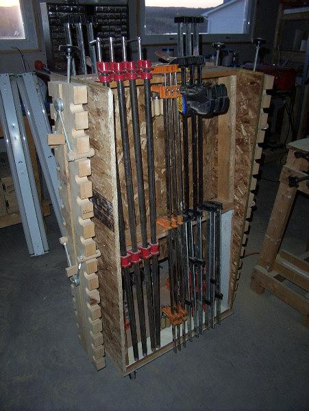 Portable clamp rack.