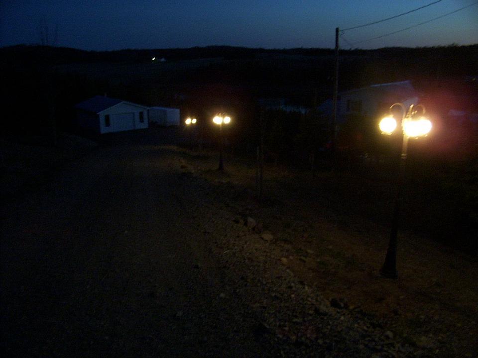 3 globe driveway lighting.