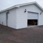 Finished garage.
