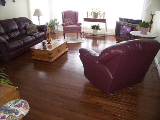 Hardwood flooring upgrade.