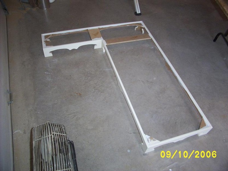 Kitchen island base frame.