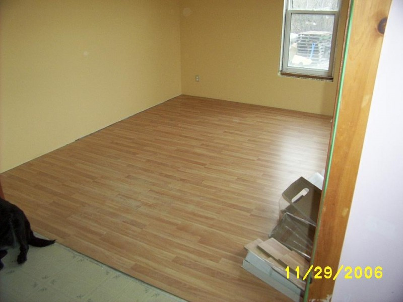 Laminate floor - quick and easy