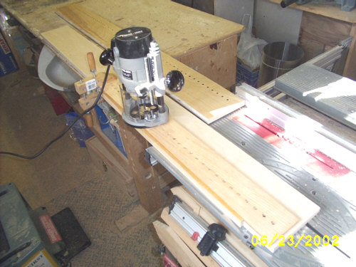Routing with a shelf pin hole shop-made jig