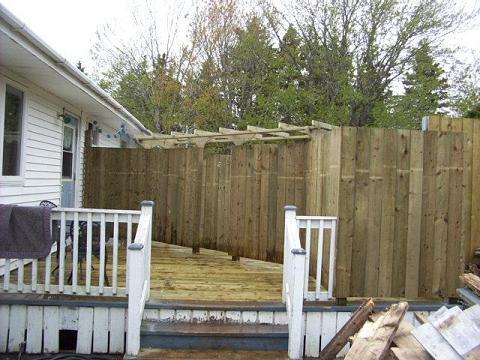 Deck rebuilt.