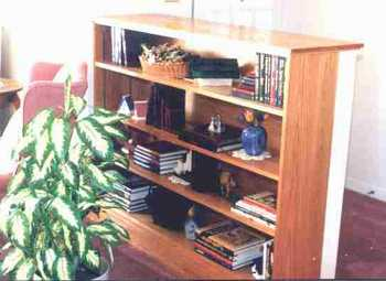 Oak bookcase.