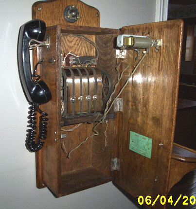 Inside a CenturyTel telephone.