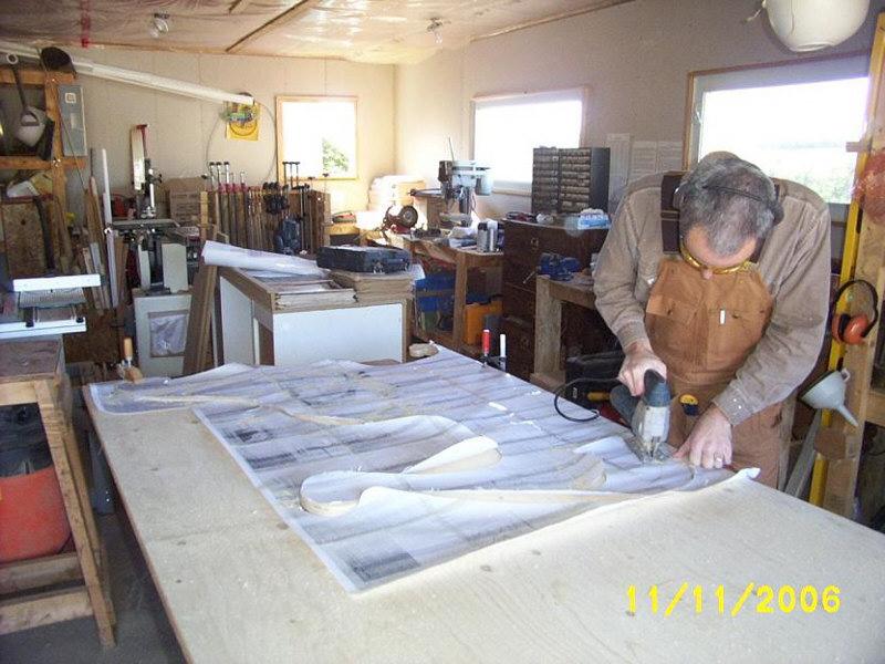 Jig sawing Christmas yard art plans.