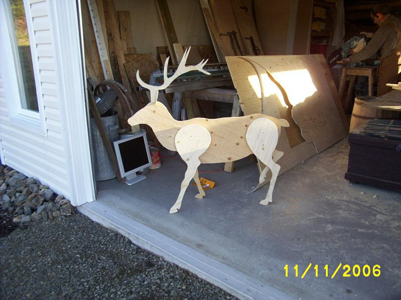 Santa Sleigh And Reindeer Yard Art Woodchuckcanuck Com