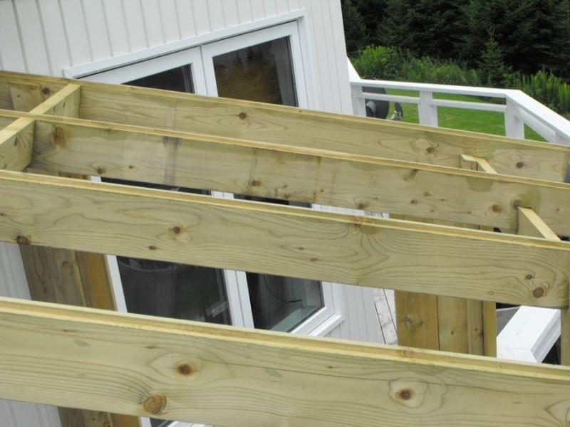 Sunroom deck construction 20