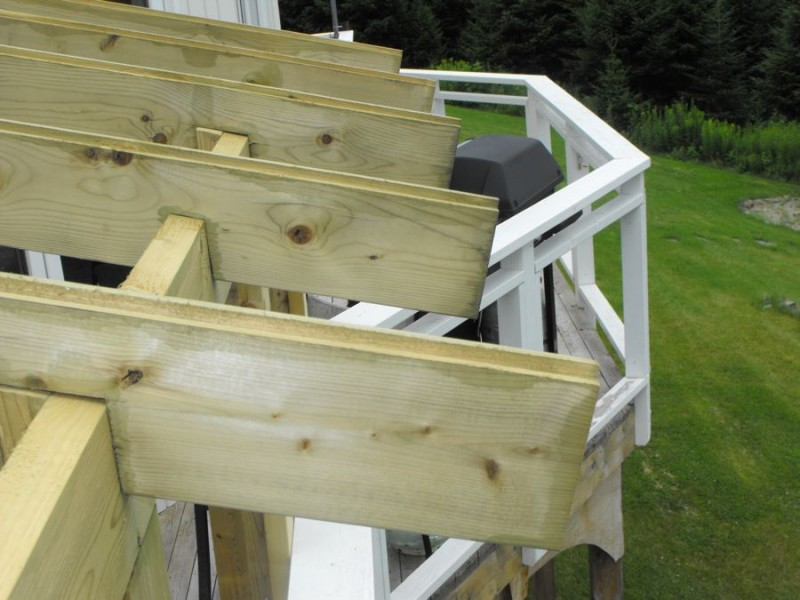 Sunroom deck construction 23