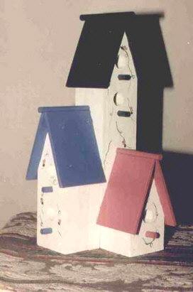 Craft project Tri-birdhouse