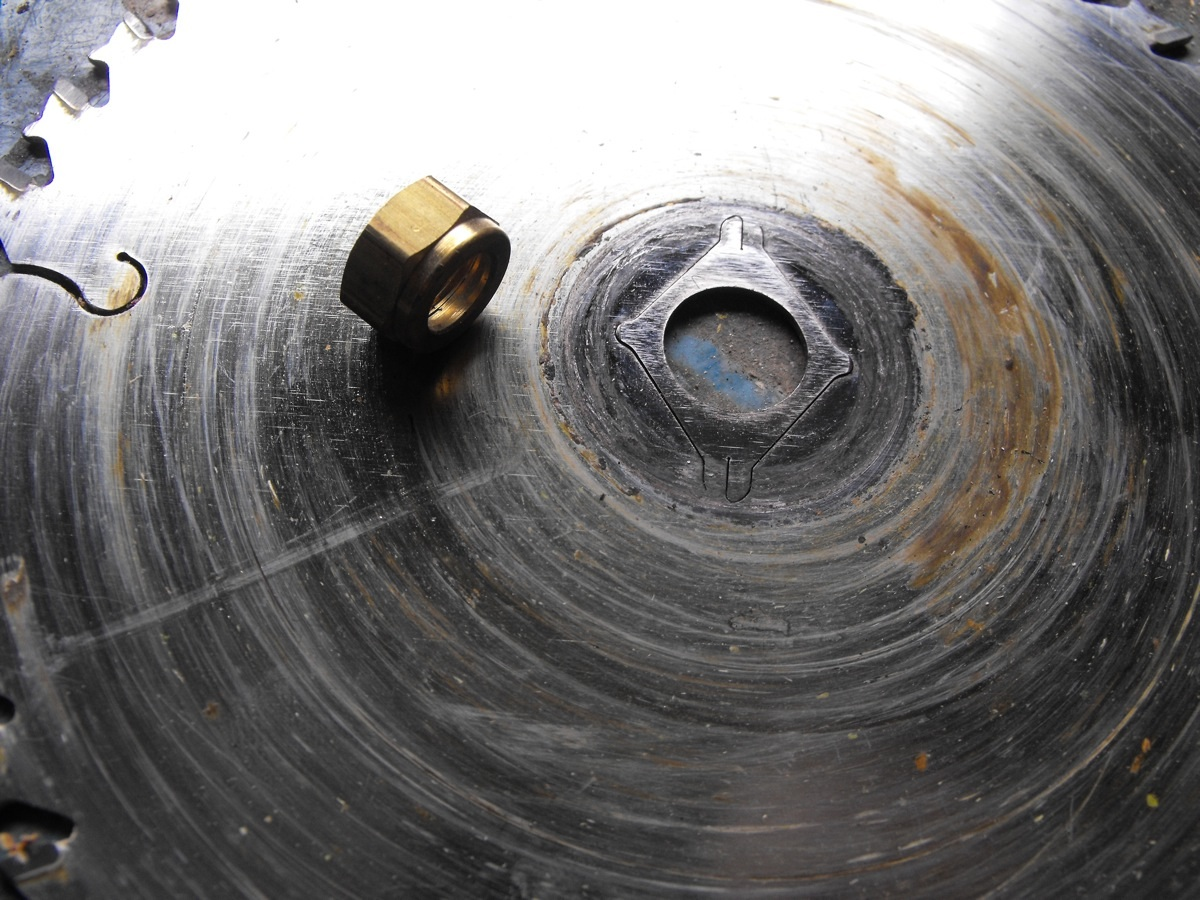 Reusing metal parts.