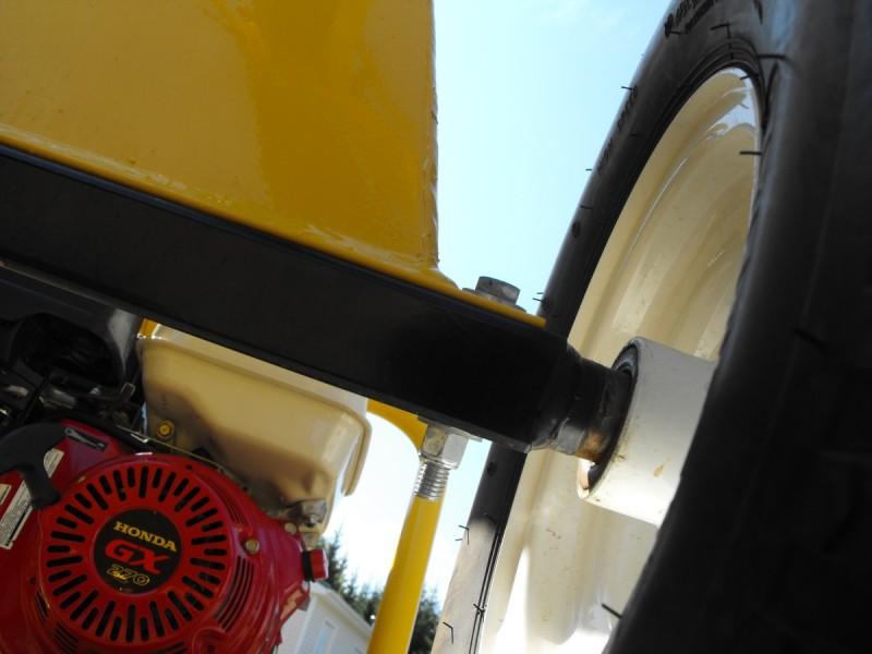 Bolt on axle