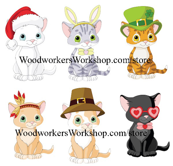 kittens,cats,plywood projects,jigsaw