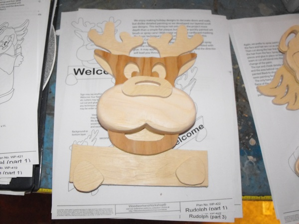 scrollsaw,plans,patterns,PDF,downloads,Rudolph,Christmas,reindeer