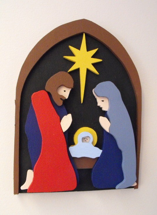Christmas Nativity 3D Layered Scrollsaw Project