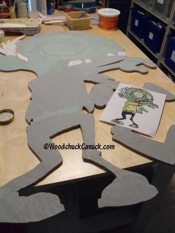 making zombies,painting,Halloween,woodworking plans,yard art patterns