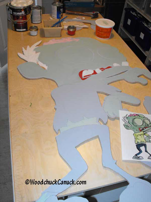 making zombies,yard art decorations,Halloween,painting,woodworking plans,projects,patterns