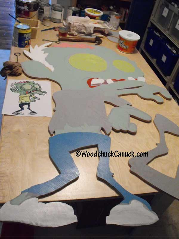 painting Halloween zombies,yard art decorations,woodowrking plans,full size patterns